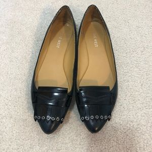 2/$20 🦋 Nine West Navy Pointy Toe Flats Shoes